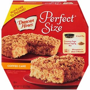 Duncan Hines Perfect Size, Coffee Cake & Streusel Mix, 7.7 Ounce