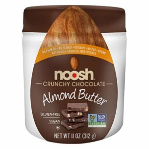 Noosh Crunchy Chocolate Almond Butter 11 ounce - Vegan, Gluten Free, Non GMO, Kosher, No Soy, No Dairy, No Peanuts - Naturally Sourced Ingredients
