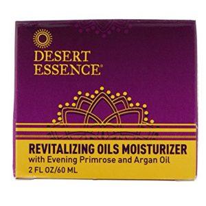 Desert Essence Revitalizing Oils Moisturizer - 2 Fl Oz - For Daily Makeup - Omega-6 Fatty Acids - Argan, Avocado & Evening Primrose Oil - Fights Environmental Stressors - Cleanse