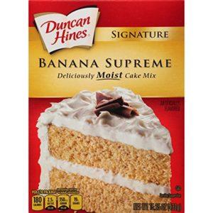 Duncan Hines Signature Cake Mix, Banana Supreme, 15.25 Ounce