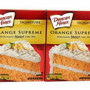 Duncan Hines Cake Mix-Orange-16.5 Oz-2 Pack