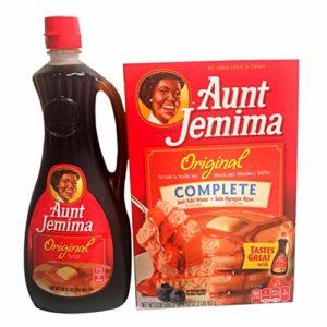 Aunt Jemima Pancake Waffle Mix and Aunt Jemima Pancake Waffle Syrup