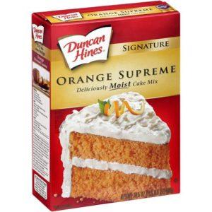 Duncan Hines Signature Supreme Cake Mix, Orange, 16.5 oz