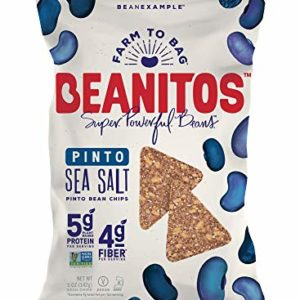 Beanitos Simply Pinto Bean Chips with Sea Salt, The Healthy, High Protein, Gluten free, and Low Carb Vegan Tortilla Chip Snack, 5 Ounce A Lean Bean Protein Machine for Superfood Snacking At Its Best