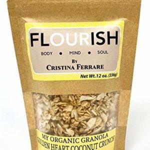 My Organic Granola By Cristina Ferrare (Golden Coconut Crunch) | Gluten-Free, Non GMO, Vegan | 12 oz.