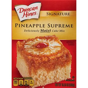 Duncan Hines Signature Cake Mix, Pineapple Supreme, 15.25 Ounce