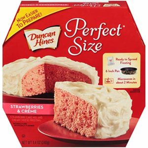Duncan Hines Perfect Size Strawberries & Crème Cake & Frosting Mix, 8.4 oz
