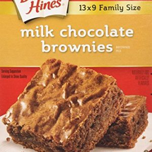 Duncan Hines Brownie Mix, Milk Chocolate, 18 Ounce (Pack of 6)