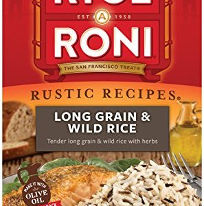 Rice a Roni, Rustic Recipies, Long Grain and Wild Rice Mix 4.2oz (Pack of 12 Boxes)