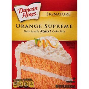 Duncan Hines Signature Cake Mix, Orange Supreme, 15.25 Ounce
