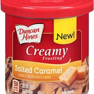 Duncan Hines Creamy Frosting, Salted Caramel, 16 Ounce (Pack of 8)