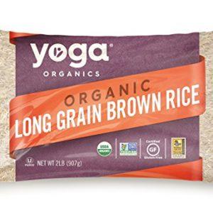 Yoga Organic Long Grain Brown Rice - GMO, Cholesterol & Sodium Free (32 Oz)