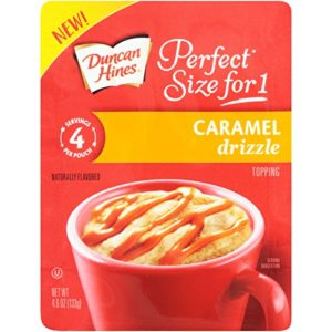 Duncan Hines Perfect Size for 1 Caramel Drizzle Topping, 4.6 oz. Pouch (Pack of 8)