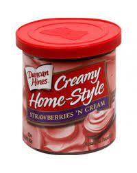 Duncan Hines Creamy Home-Style Frosting, Strawberries \n Cream, 16 Ounce (Pack of 8)
