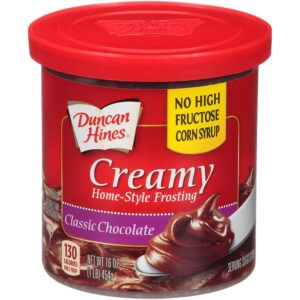 Duncan Hines Creamy Home-Style Frosting, Classic Chocolate, 16 Ounce (Pack of 8)