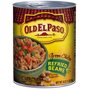 Old El Paso Refried Beans with Green Chiles, 16-Ounce (Pack of 12)