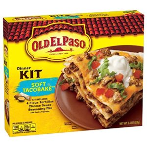Old El Paso (4) Soft Taco Bake Dinner Kit, 8.4-Ounce Packages (Pack of 6)