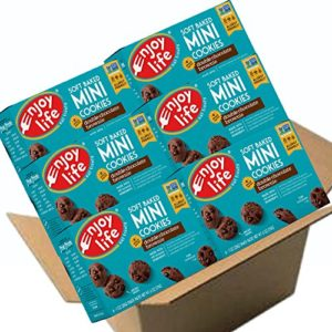 Enjoy Life Soft Baked Mini Cookies, Soy free, Nut free, Gluten free, Dairy free, Non GMO, Vegan, Double Chocolate Brownie, 1 Ounce Packs (Pack of 36)