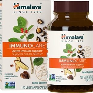 Himalaya ImmunoCare with Amla and Ginger for Active Immune Support and Cellular Defense, 840 mg, 120 Capsules, 1 Month Supply