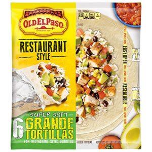 Old El Paso Restaurant Grande Flour Tortillas, 21.5 Ounce (Pack of 5)