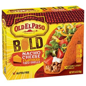 Old El Paso Stand 'n Stuff Nacho Cheese Flavored Taco Shells, 5.4 Ounce (Pack of 6)