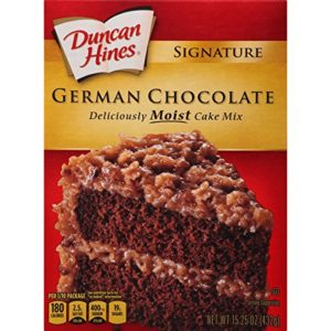 Duncan Hines Signature Cake Mix, German Chocolate, 15.25 Ounce