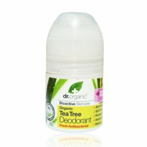 2 X 50ml Dr Organic Organic Tea Tree Roll on Deodorant / Bioactive Skincare Gift Fro You