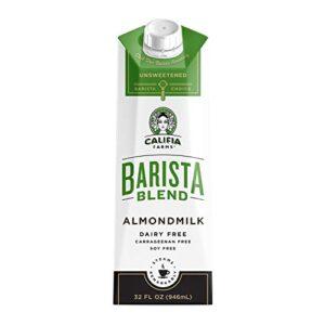 Califia Farms Unsweetened Almondmilk Barista Blend  Dairy Free   Whole30   Keto   Vegan   Plant Based   Nut Milk   Non-GMO, 32 Fl Oz, Pack of 6