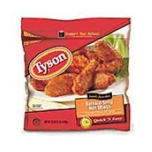 Tyson Buffalo Style First and Second Joint Chicken Wing, 5 Pound -- 2 per case.