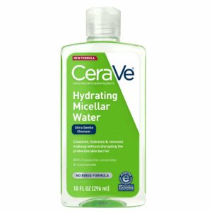 CeraVe Micellar Water | New & Improved Formula | Hydrating Facial Cleanser & Eye Makeup Remover | Fragrance Free & Non-Irritating | 10 Fl. Oz