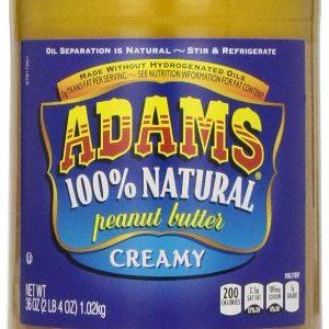 Adams, 100% Natural Peanut Butter Creamy, 36 oz