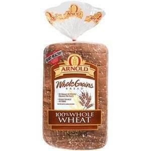 ARNOLD 100% WHOLE WHEAT BREAD WIDE PAN LOAF 24 OZ