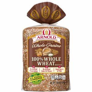 Arnold whole grains 100%, whole wheat sliced bread, 24 Ounce