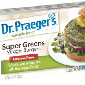 DR PRAEGER Burger Veggie Super Green Patties, 10 Ounce (Pack of 12)