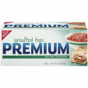 Premium Saltine Crackers - Unsalted Tops, 16 oz, 2 pk