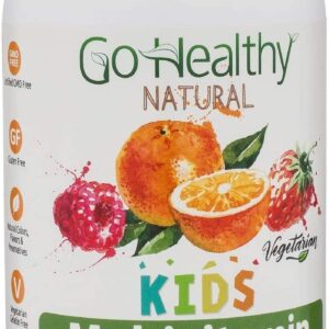 Go Healthy Natural Multivitamin Gummies for Kids, Vegetarian, OU Kosher, Halal
