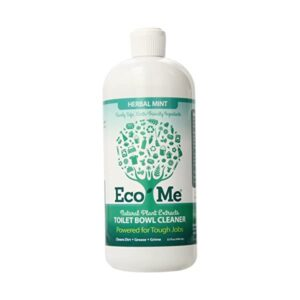 Eco-me Natural Powerful Toilet Bowl Cleaner, Clear, Herbal Mint, 32 Fl Oz