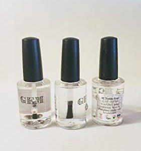 HALAL GEM 10 Free clear base & top coat Nail Color