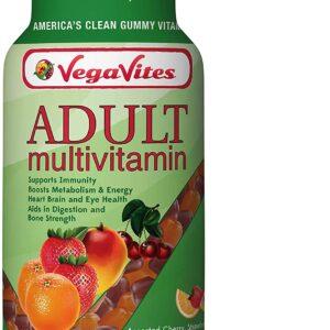 VegaVites Gummy Adult Multivitamin – 60 mg of Vitamin C – Vegetarian, Halal & Kosher