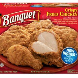 Banquet Original Fried Chicken, 29 Ounce -- 12 per case.
