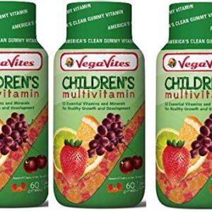 VegaVites Children's Multivitamin 3 Pack Vegetarian, Halal, Kosher Non GMO, Gelatin Free & Gluten Free