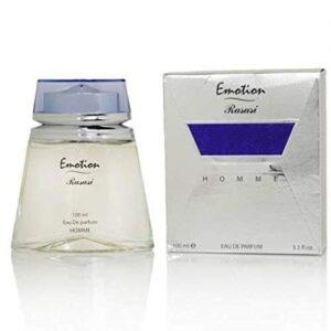 Emotion for Men EDP - Eau De Parfum 100ml  Encaptures Fresh Notes or Bergamot & Orange Blossom in Opening, Floral Heart & Base w/ Musk