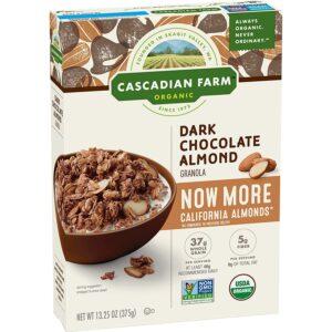 Cascadian Farm Organic Granola Dark Chocolate Almond Cereal, 13.25 Oz
