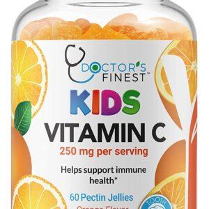 Doctors Finest Vitamin C Gummies for Kids - Vegan, GMO Free & Gluten Free