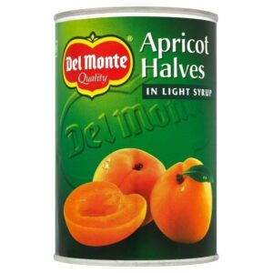 Del Monte Apricot Halves in Light Syrup (410g) - Pack of 2