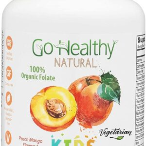 Go Healthy Natural Kids Liquid Multivitamin Organic Folate Vegetarian Plant-Based Whole Food
