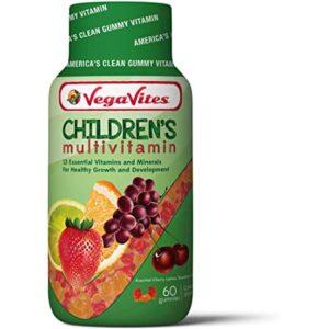 VegaVites Gummy Children's Multivitamin – 20 mg of Vitamin C – Vegetarian, Halal & Kosher