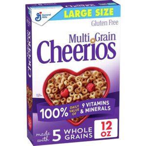 Multi Grain Cheerios, Gluten Free, Multigrain Cereal, 12 Oz