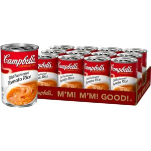 Campbell's Condensed Old-Fashioned Tomato Rice Soup, 11 oz. Can (Pack of 12)