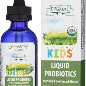 Go Healthy Natural Liquid Probiotics & Enzymes USDA Organic Vegan Kids Baby Toddlers